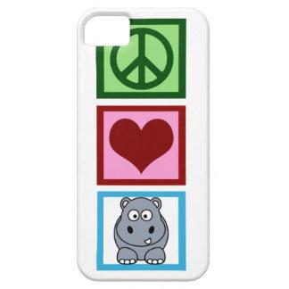 Peace Love Hippos iPhone SE/5/5s Case