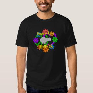 Peace Love Hippos Shirt