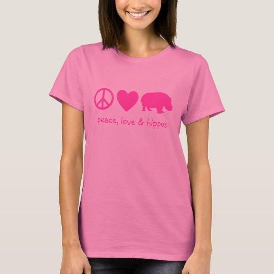 Peace, Love & Hippos T-Shirt
