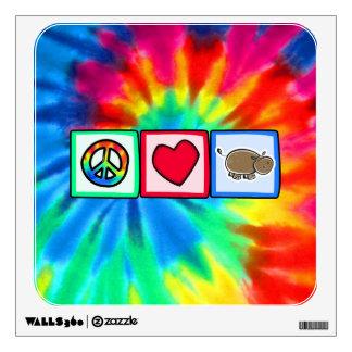 Peace, Love, Hippos Wall Sticker