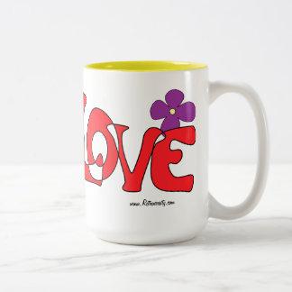 Peace & Love Hippy Mug