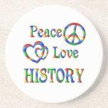 Peace Love HISTORY Coasters