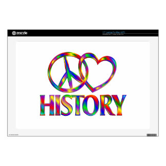 Peace Love History Laptop Skins