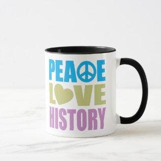 Peace Love History Mug