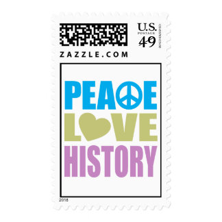 Peace Love History Postage Stamps
