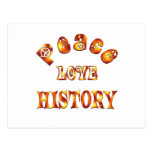 PEACE LOVE HISTORY POSTCARD