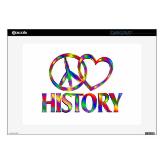 "Peace Love History Skins For 15"" Laptops"