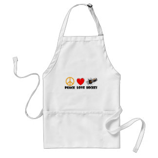 Peace Love Hockey Adult Apron