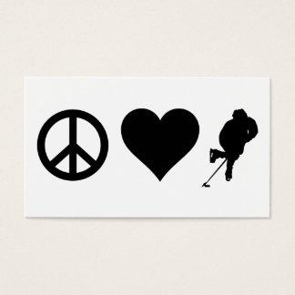 Peace Love Hockey Business Card