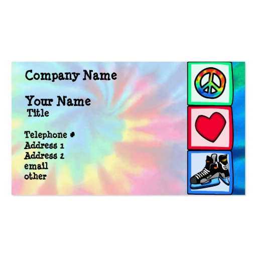 Peace, Love, Hockey Double-Sided Standard Business Cards (Pack Of 100)