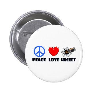 Peace Love Hockey Buttons