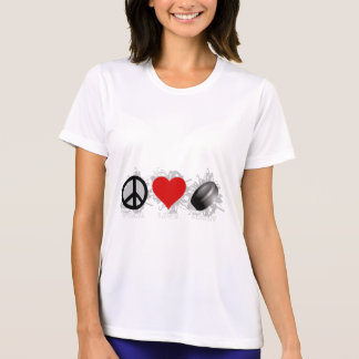 Peace Love Hockey Emblem T-Shirt