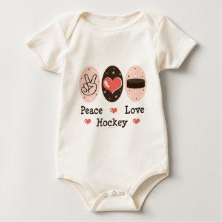 Peace Love Hockey Infant Creeper