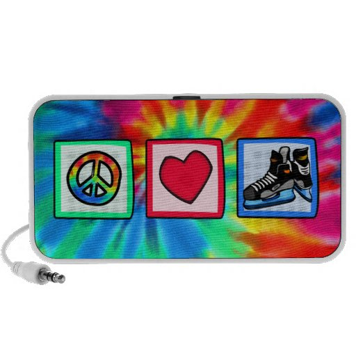 Peace, Love, Hockey Laptop Speakers