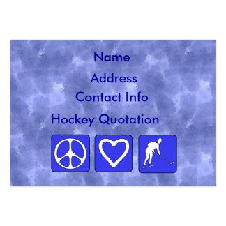 Peace Love Hockey Large Business Card