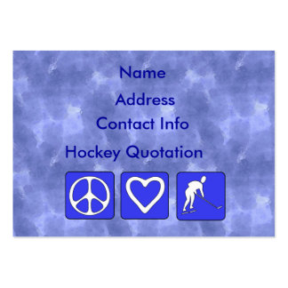 Peace Love Hockey Large Business Cards (Pack Of 100)