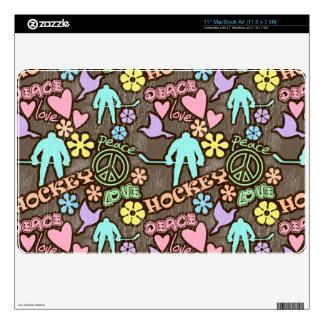 Peace, Love, Hockey MacBook Air Skin