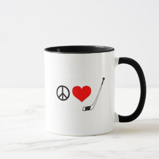Peace Love Hockey Mug