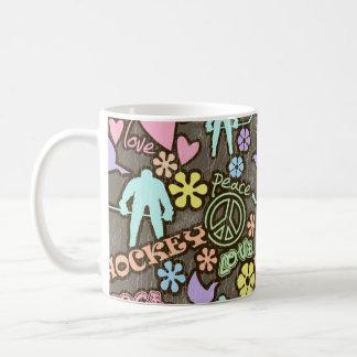 Peace, Love, Hockey Coffee Mug