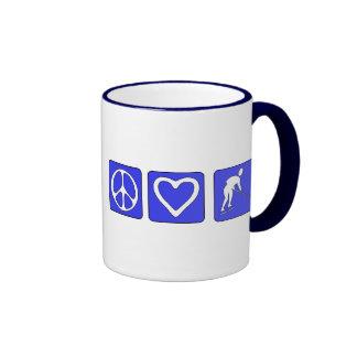 Peace Love Hockey Mugs