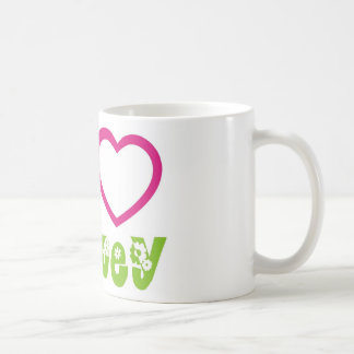 Peace Love Hockey Coffee Mugs