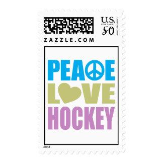 Peace Love Hockey Postage