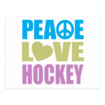 Peace Love Hockey Postcards