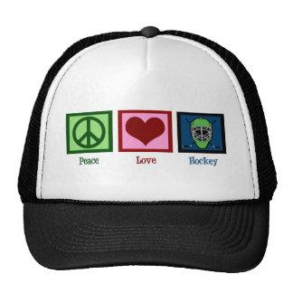 Peace Love Hockey Trucker Hat