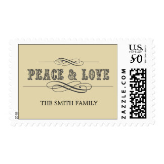 PEACE & LOVE HOLIDAY POSTAGE