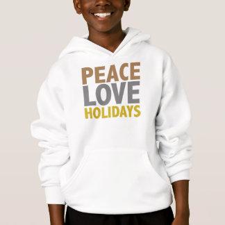 Peace Love Holidays Christmas Design Hoodie