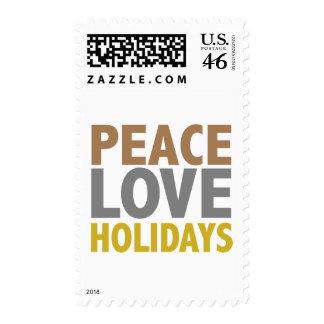 Peace Love Holidays Christmas Design Postage