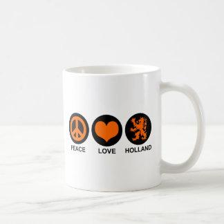 Peace Love Holland Classic White Coffee Mug
