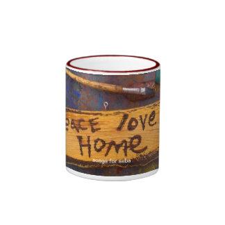 peace love home ringer coffee mug