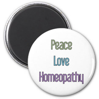 Peace, Love, Homeopathy Magnet