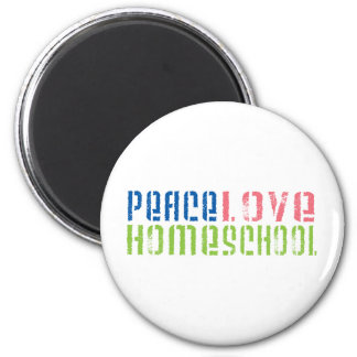 Peace Love Homeschool 2 Inch Round Magnet