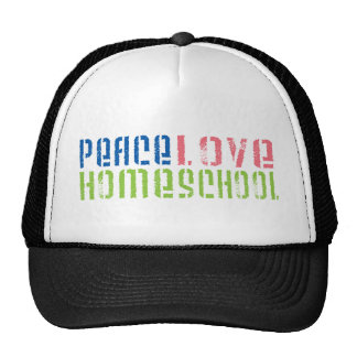 Peace Love Homeschool Hats