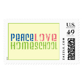 Peace Love Homeschool Postage Stamp