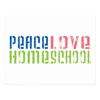 Peace Love Homeschool Postcard