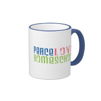 Peace Love Homeschool Ringer Mug