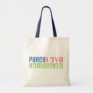 Peace Love Homeschool Tote Bag