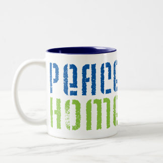 Peace Love Homeschool Two-Tone Coffee Mug