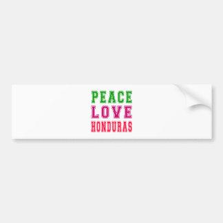 Peace Love Honduras Car Bumper Sticker
