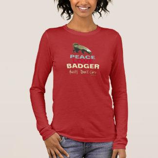 Peace Love (Honey) Badger T-Shirt (Brown)