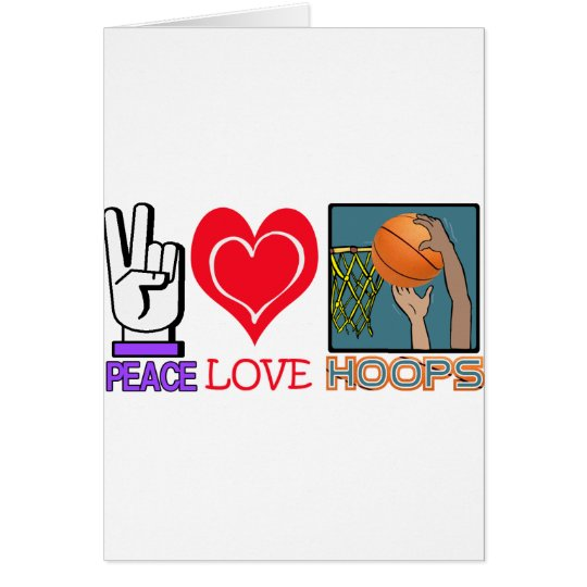 PEACE LOVE HOOPS (basketball) Card