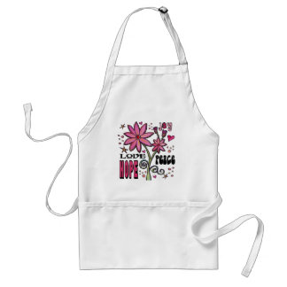 Peace Love Hope and Flowers Aprons