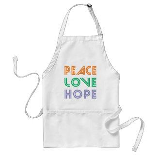 PEACE  LOVE HOPE APRONS