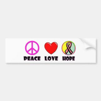 Peace Love Hope Bumper Sticker