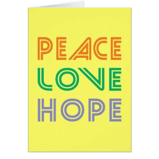 PEACE  LOVE HOPE CARD
