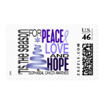 Peace Love Hope Christmas Esophageal Cancer Postage