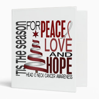 Peace Love Hope Christmas Head And Neck Cancer 3 Ring Binders